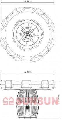 Sunsun Фонтан - аэратор для пруда Sunsun COP-10000