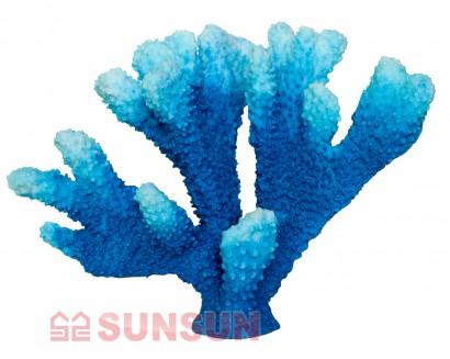 """Sunsun Коралл искусственный Sunsun """"Кошачья лапа"""" синий"""